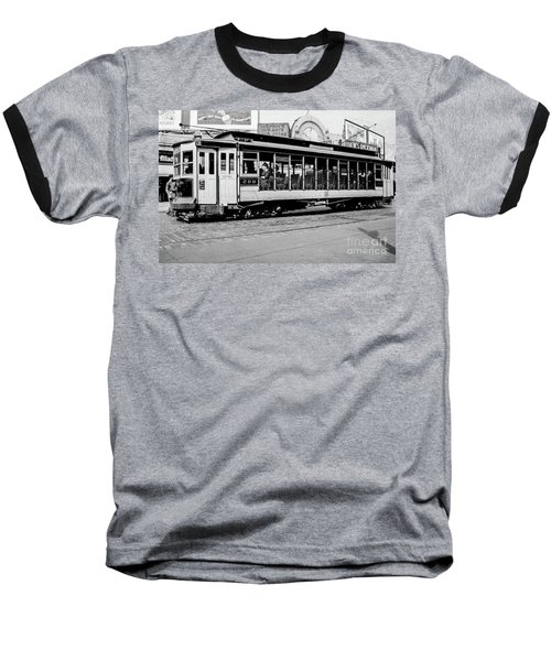 Baseball T-Shirt featuring the photograph Inwood Crosstown Trolley  by Cole Thompson