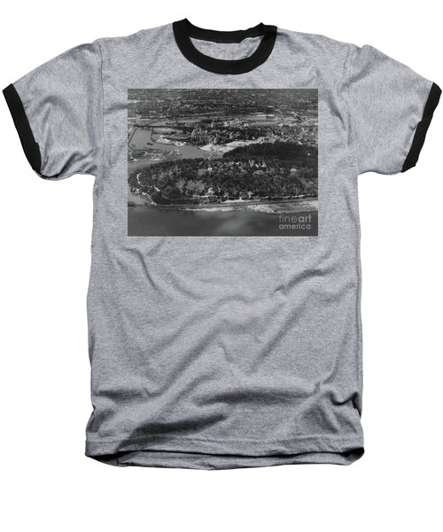 Inwood Hill Park Aerial, 1935 Baseball T-Shirt by Cole Thompson