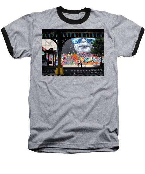Inwood Street Art  Baseball T-Shirt by Cole Thompson