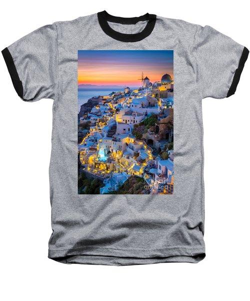 Oia Sunset Baseball T-Shirt