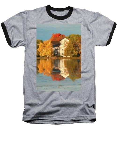 Iola Mill Fall Reflection Baseball T-Shirt by Trey Foerster