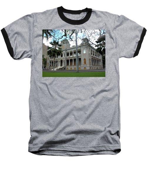 Baseball T-Shirt featuring the photograph Iolani Palace, Honolulu, Hawaii by Mark Czerniec