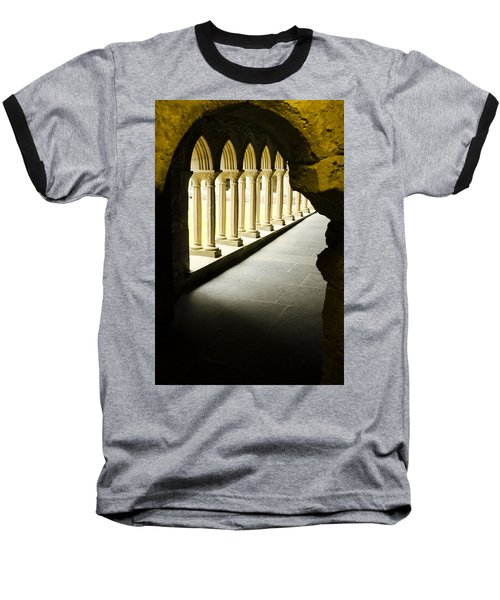 Baseball T-Shirt featuring the photograph Iona Abbey Scotdland by Sally Ross