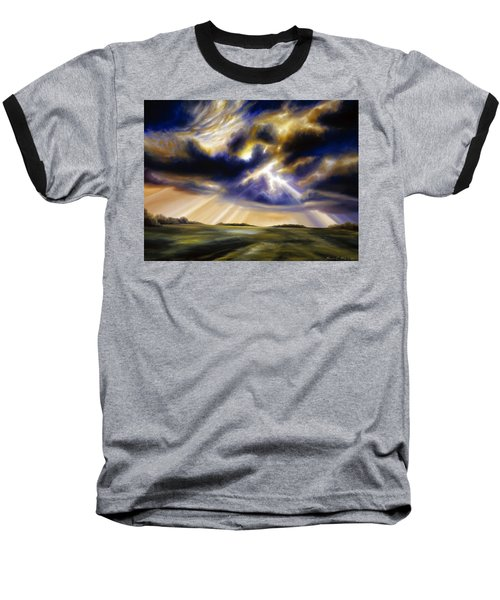 Iowa Storms Baseball T-Shirt by James Christopher Hill