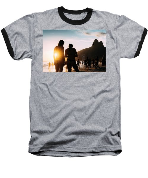 Ipanema, Rio De Janeiro, Brazil At Sunset Baseball T-Shirt