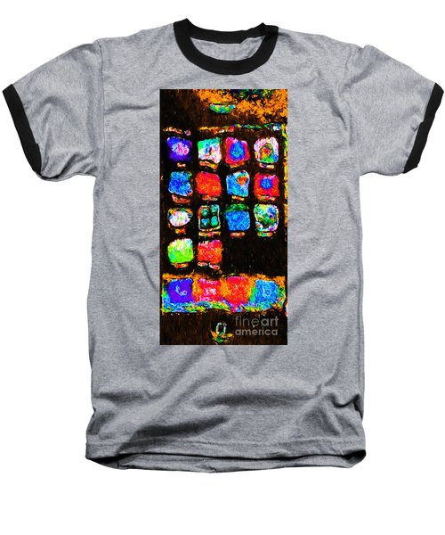 Iphone In Abstract Baseball T-Shirt