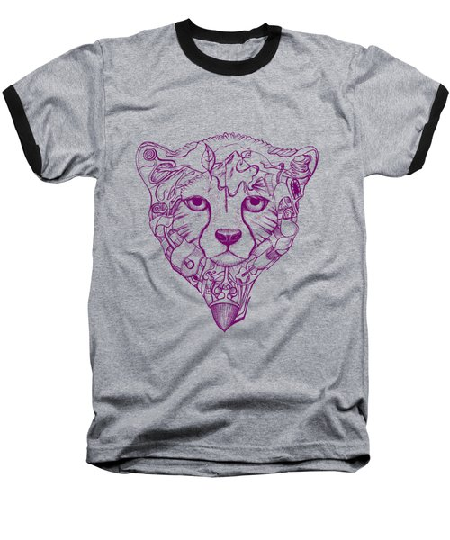 Iranian Cheetah Baseball T-Shirt by Adam Campbell