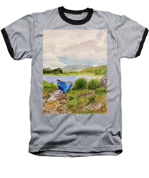 Baseball T-Shirt featuring the painting Ireland by Carol Flagg