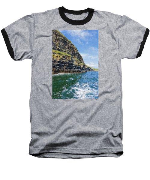 Ireland Cliffs Baseball T-Shirt