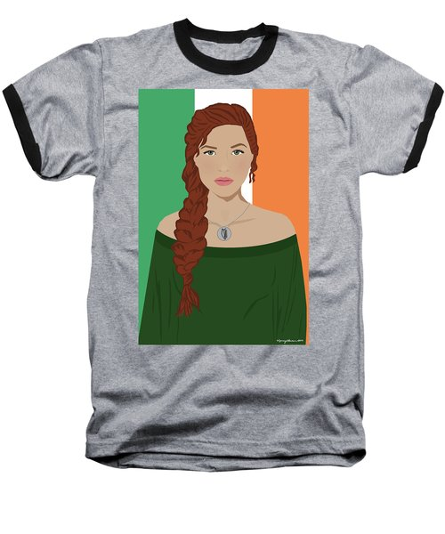 Baseball T-Shirt featuring the digital art Ireland by Nancy Levan