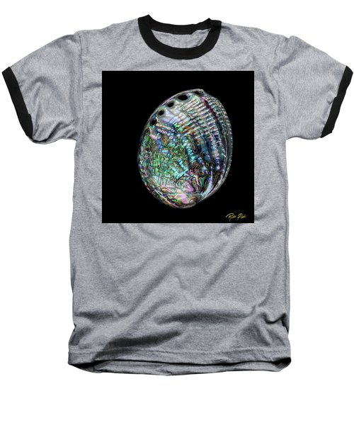Baseball T-Shirt featuring the photograph Iridescence On The Half-shell by Rikk Flohr