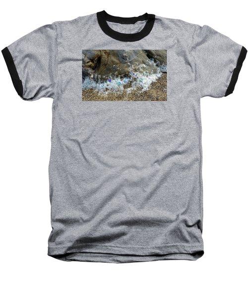 Iridescent Seafoam Necklace Baseball T-Shirt by Amelia Racca