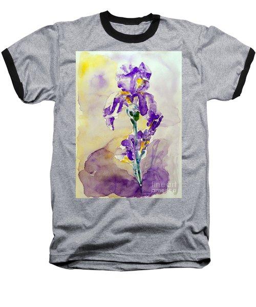 Baseball T-Shirt featuring the painting Iris 2 by Jasna Dragun