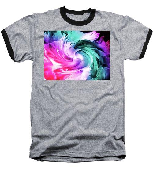 Iris Abstract  Baseball T-Shirt