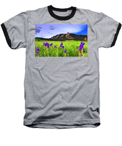 Iris And Flatirons Baseball T-Shirt