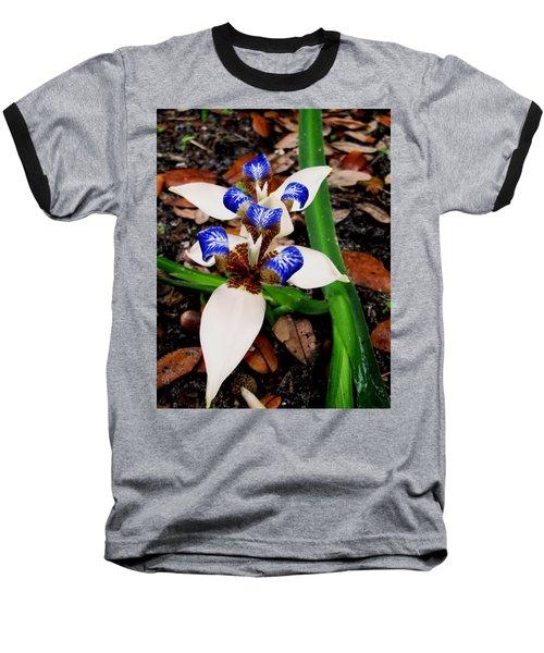 Iris Baseball T-Shirt by Angela Murray