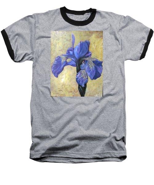 Iris Baseball T-Shirt by Barbara O'Toole
