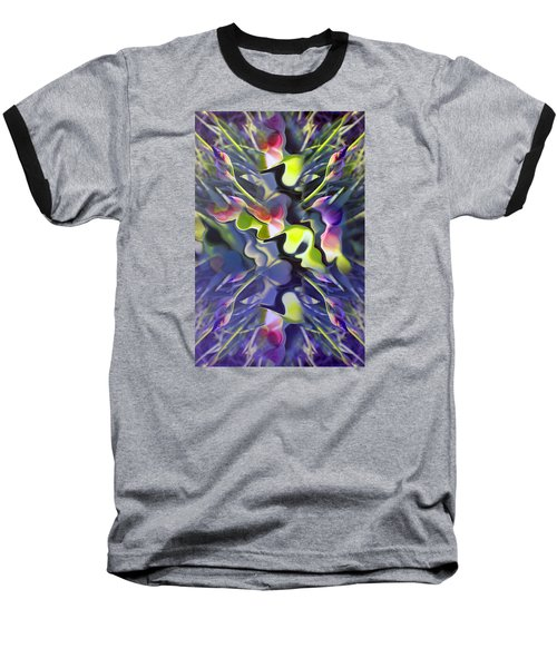 Iris Bursts Baseball T-Shirt by Tina M Wenger