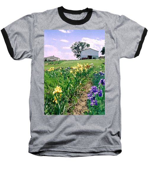 Baseball T-Shirt featuring the photograph Iris Farm by Steve Karol