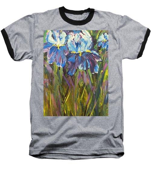Iris Floral Garden Baseball T-Shirt