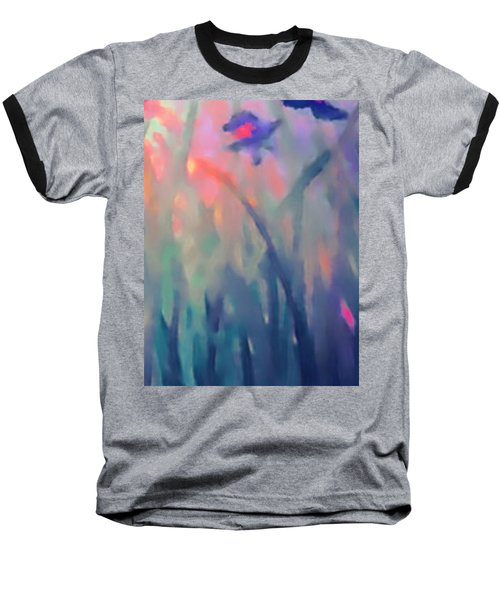 Baseball T-Shirt featuring the painting Iris by Holly Martinson