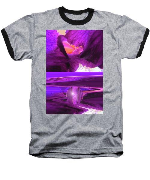 Before And After - Iris Macro And Manipulated Iris Macro Baseball T-Shirt by Brooks Garten Hauschild