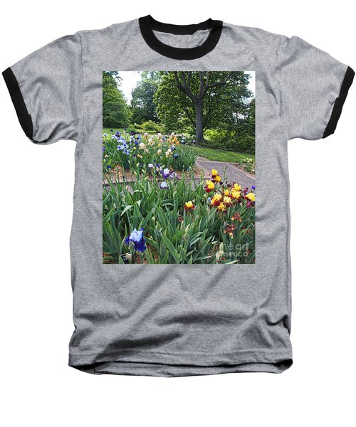 Baseball T-Shirt featuring the photograph Iris With Trees by Nancy Kane Chapman