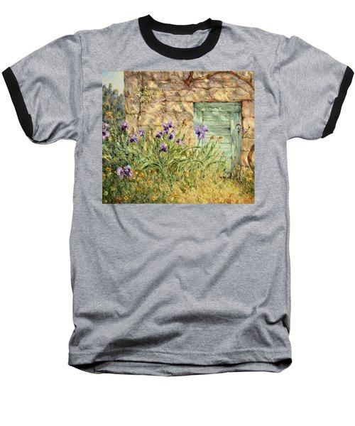 Irises At The Old Barn Baseball T-Shirt
