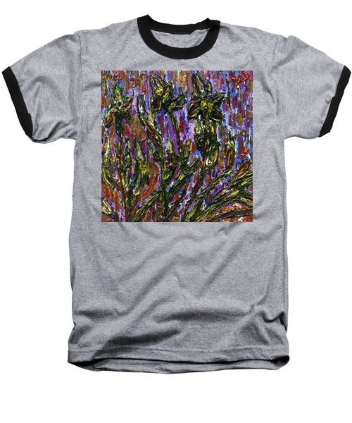 Baseball T-Shirt featuring the painting Irises Carousel by Vadim Levin