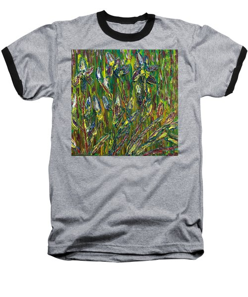 Baseball T-Shirt featuring the painting Irises Dance by Vadim Levin