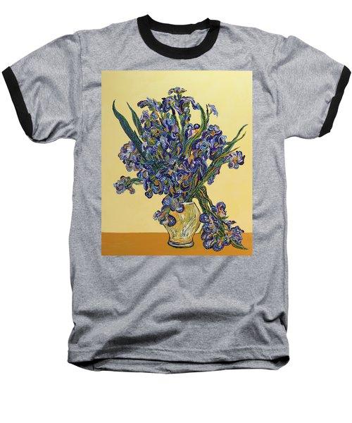 Irises  Baseball T-Shirt by Erika Pochybova