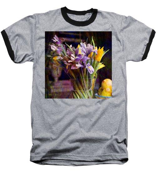 Irises In A Glass Baseball T-Shirt