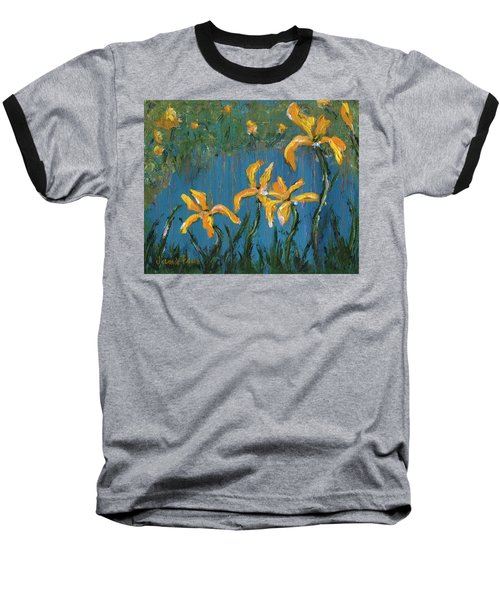 Baseball T-Shirt featuring the painting Irises by Jamie Frier