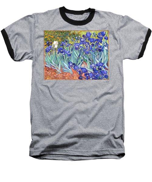 Baseball T-Shirt featuring the painting Irises by Van Gogh