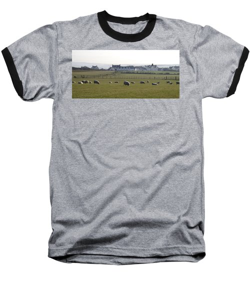 Irish Sheep Farm Baseball T-Shirt by Henri Irizarri