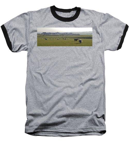 Irish Sheep Farm I Baseball T-Shirt