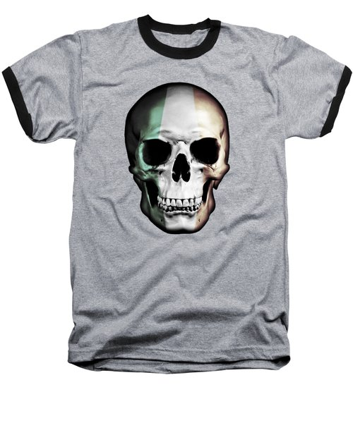 Baseball T-Shirt featuring the digital art Irish Skull by Nicklas Gustafsson