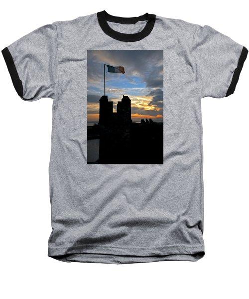 Irish Sunset Over Ramparts 1 Baseball T-Shirt