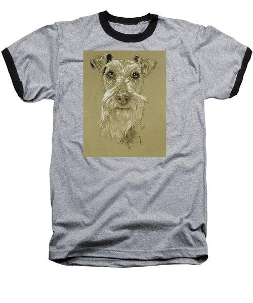 Irish Terrier Baseball T-Shirt by Barbara Keith