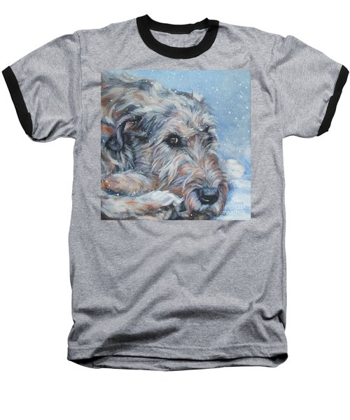 Irish Wolfhound Resting Baseball T-Shirt