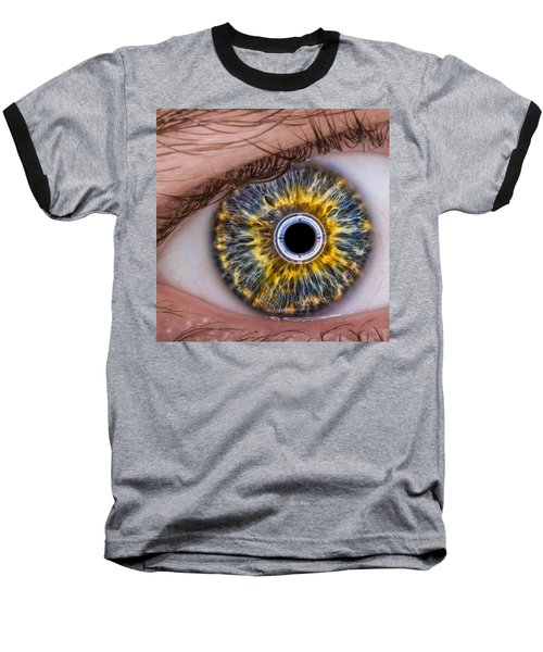 iRobot Eye v2.o Baseball T-Shirt by TC Morgan
