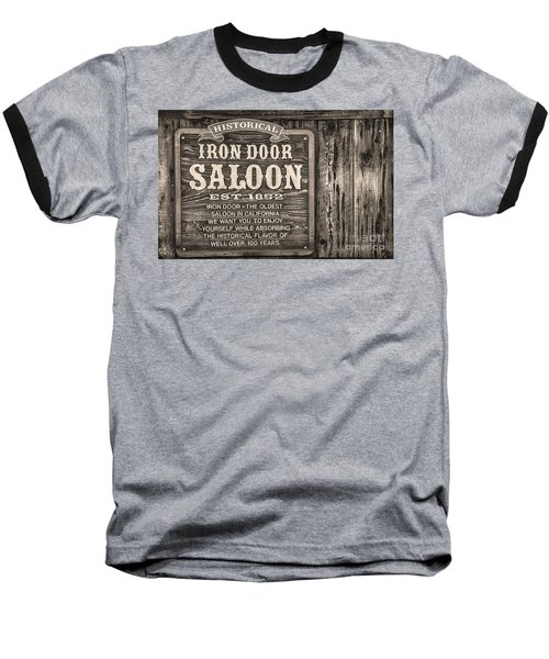 Iron Door Saloon 1852 Baseball T-Shirt by David Millenheft
