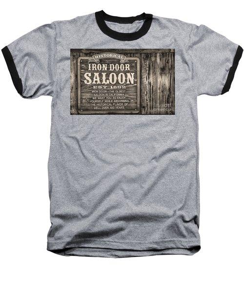 Iron Door Saloon 1852 Baseball T-Shirt