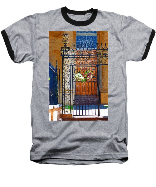 Baseball T-Shirt featuring the photograph Iron Gate by Donna Bentley