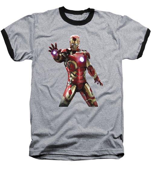 Iron Man Splash Super Hero Series Baseball T-Shirt