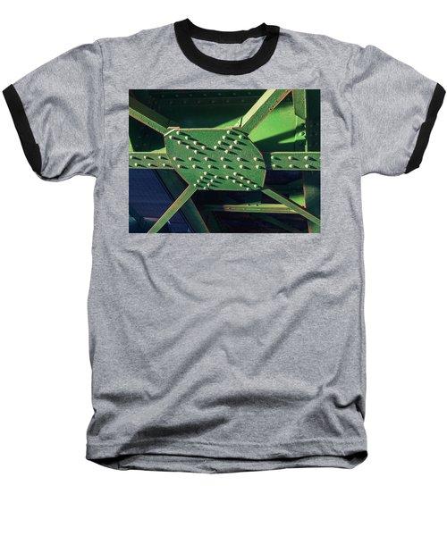 Iron Rail Bridge Baseball T-Shirt