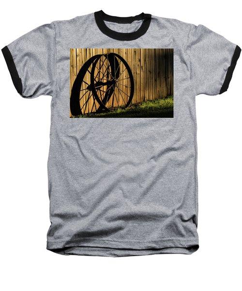 Iron Wheel Baseball T-Shirt by Jay Stockhaus