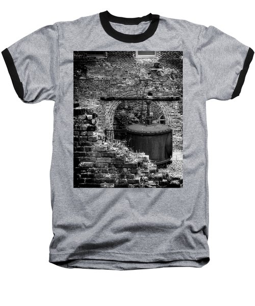 Baseball T-Shirt featuring the photograph Ironworks Remains by Alan Raasch
