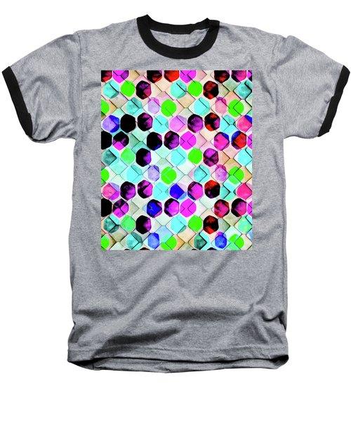 Irregular Hexagon Baseball T-Shirt by Uma Gokhale
