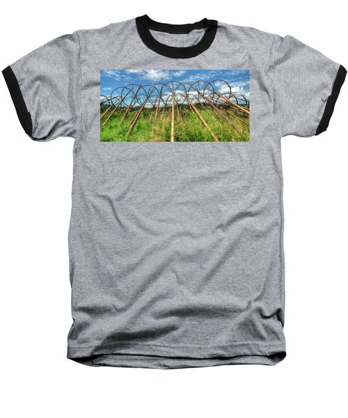 Irrigation Pipes 1 Baseball T-Shirt by Jerry Sodorff